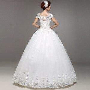 Image 2 - Новое весеннее и летнее модное свадебное платье 2020, белое свадебное платье принцессы на шнуровке в Корейском стиле, бальное платье