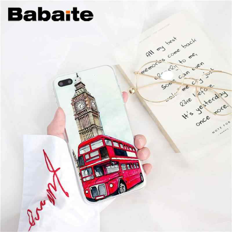 Babaite londres ônibus inglaterra telefone britânico do vintage capa de telefone para iphone8 7 6 6 splus x xsmax 5 5S se xr 10 11 11pro 11promax