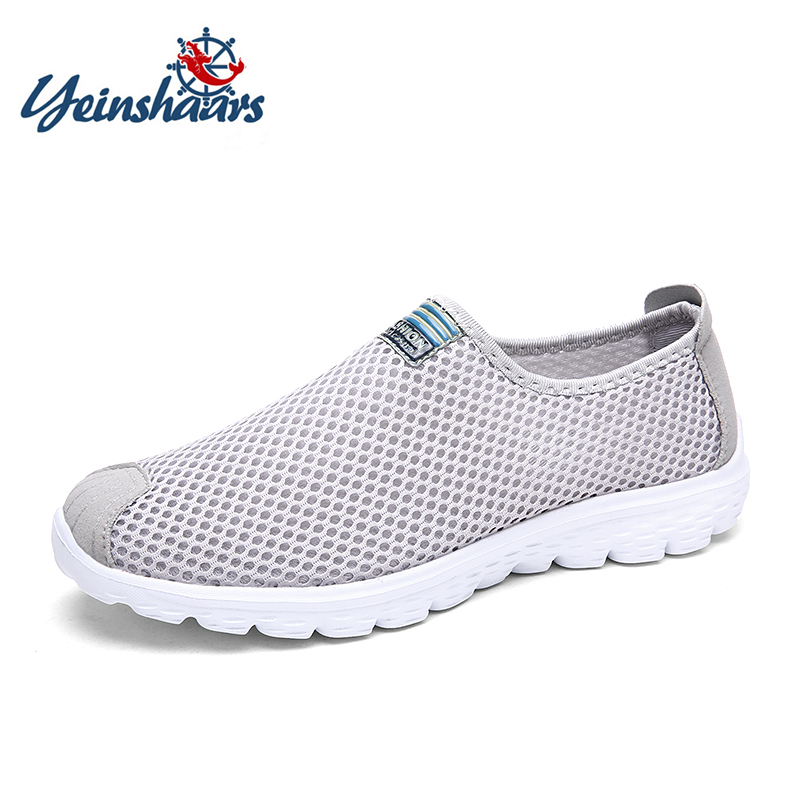 YEINSHAARS Comfortable Sneakers Light-Net Casual-Shoes Plus-Size Fashion Summer Male