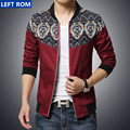 New 2017 men's fashion printing fine stitching slim leisure jackets / Male High-grade casual Brand standing collar jackets coats