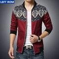 Novo 2017 moda impressão costura fina magro jaquetas de lazer dos homens/Masculino Alta-grade Marca casuais colarinho em pé jaquetas casacos