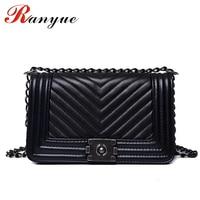 RANYUE Luxury Handbags Women Bags Designer Women Messenger Bags 2017 Summer Vintage Fashion V Small Chain