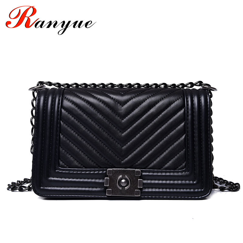 Ranyue Luxury Handbags Women Bags Designer Messenger 2017 Summer Vintage Fashion V Small Chain Crossbody Bag Hot