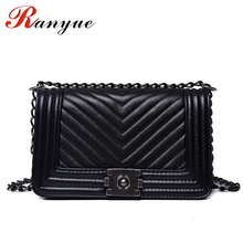 RANYUE Luxury Handbags Women Bags Designer Women Messenger Bags 2017 Summer Vintage Fashion V Small Chain Crossbody Bag Hot Sale