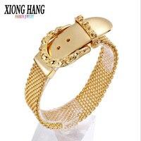 XiongHang Men's 316L Stainless Steel Bracelet&Bangle Skeleton Head Bracelet Men Retro Jewelry A lady's gift Belt Buckle Bracelet