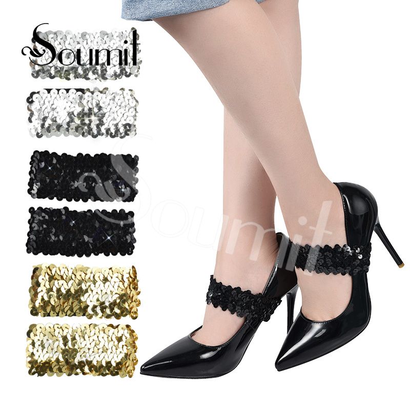 Soumit Fashion High Heel Shoes Shoelaces Ladies Shoes Shoe Laces For Clothes Shoes Decorative Accessories Non-slip Elastic Band