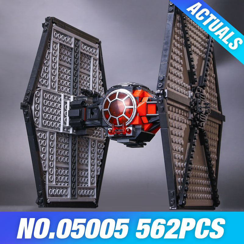 Lepin 05005 The First Order Tie Set Fighter Genuine Star Plan DIY 75101 Building Blocks Bricks Educational Wars Toys Kids Gifts new 1685pcs lepin 05036 1685pcs star series tie building fighter educational blocks bricks toys compatible with 75095 wars