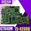 XinKaidi S451LN материнская плата для ноутбука I5-4200U GT840M для ASUS S451 S451L V451 V451L S451LN S451LB материнская плата S451LN материнская плата