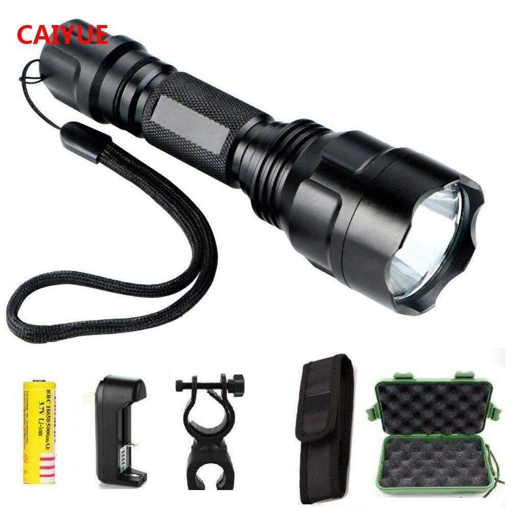 Flashlight WF502B T6 LED 2000LM Torch light 18650 Charger light LUHC
