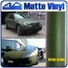High Quality Army Green Matte Vinyl Film Wrap For Car Sticker With Air Channel FedEx Free