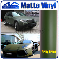 High Quality Army Green Matte Vinyl Film Wrap For Car Sticker With Air Channel FedEx Free