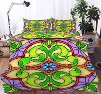 3D Bedding Set Islamic Stained glass pattern Print Duvet cover set bedclothes with pillowcase bed set home Textiles