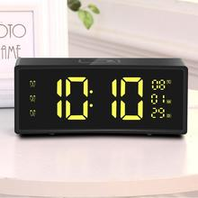 3D Curved Surface Screen Floating Font Smart Mirror Clock Electronic Clock Bedside Digital LED Alarm Clock Snooze Large Display