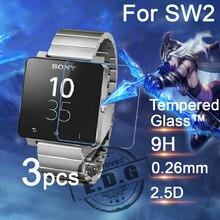 3 stücke 0,26mm 9 H Explosionsgeschützte Anti scratch LCD Gehärtetem Glas Film Für Sony SmartWatch 2 SW2 Uhr Displayschutzfolie
