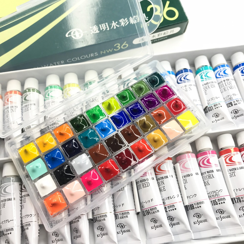 Japan Kusakabe Small Fresh 24 Color Color Watercolor 0.5ml Packing Trial Watercolor Pigment