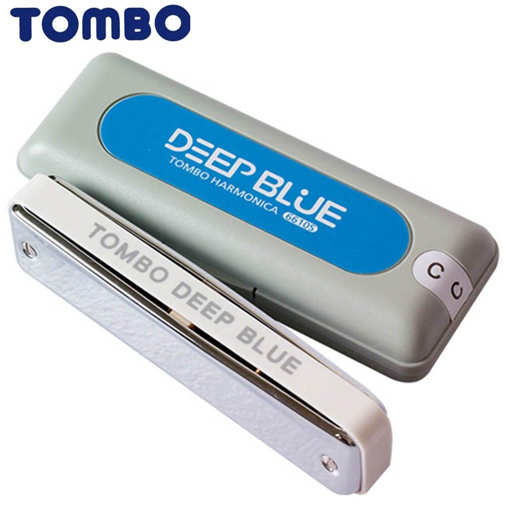 Tombo Harmonica Bleu Profond Diatonique 10 Trous Blues Harp Bouche organe ABS Clé De C Harmonica Instruments de Musique Japon Tombo 6610 S