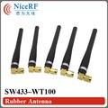 6 unids/lote Envío Libre Gain3.0dBi SW433-WT100 433 MHz Antena De Goma para el módulo inalámbrico