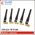 6pcs/lot Free shipping SW433-WT100 433MHz Gain3.0dBi Rubber Antenna  for wireless module