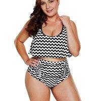 Female Swimwear Large Size High Waist Bikini Plus Size Bikinis Women S 2018 Brazilian High Waist