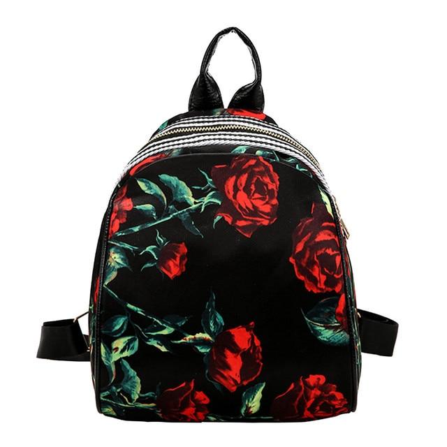 50 Newly Vintage Retro Fashion Style Flower Casual Women Girls Print Cute  Preppy Style School Bag Travel Backpack Bag HOT SALE f135d892b7348