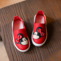 Autumn 2016 New Cute Girls Shoes Soft Soled Kawaii Bowknot Mickey Design Children Sneakers PU Leather Kids Flats Shoes