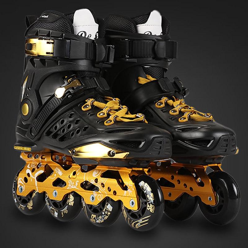 2016 ДЛФ Ф7 слалом роликовых коньков 4 цвета обувь для взрослых катание на коньках колеса PU для свободного катания раздвижной уличного скейтбординга