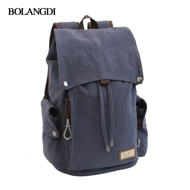 2017 Unisex Solid Color Canvas Backpack High Capacity Travel Bag School Students Backpack Men School Bag Rucksack Mochila