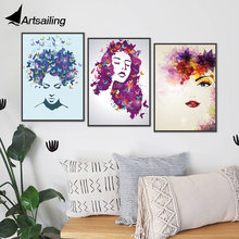 Canvas Wall Art Modern Nordic Sexy Girls Picture for Living Room Home Decor Painting HD prints and Posters Abstract Artwork(China)