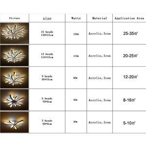 Image 5 - Led ضوء السقف لغرفة المعيشة غرفة نوم أبيض/أسود بسيط Plafond led مصباح السقف تركيبات الإضاءة المنزلية AC90 260V