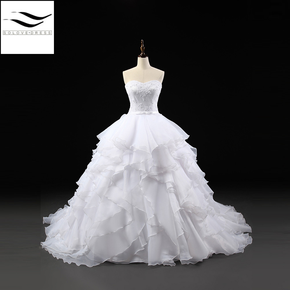 Removable Wedding Gown Dress: 100% As Picture Real Show Removable Short Sleeves Organza
