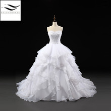 SOLOVEDRESS 100% As Short Sleeves Bridal Gown Wedding dress
