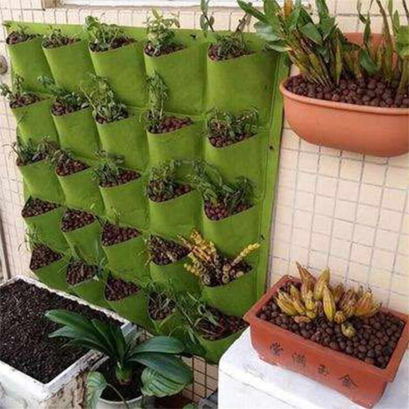 Wall-Mounted Planting Bag Variety Model Pocket Green Planting Bag Seeder Garden Vertical Plant Life Garden Home Material Bag