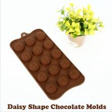 15 Holes chrysanthemum Shapes Chocolate Mold Cake Silicone Sun Flower DIY Manual Bakery Maker Kitchen Tools