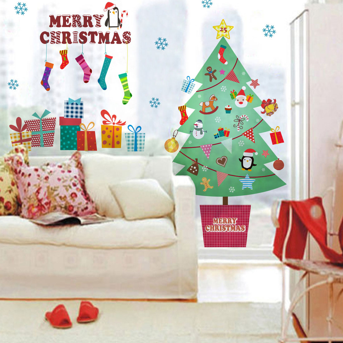 Top sale xmas tree wall stickers 2018 happy new year merry top sale xmas tree wall stickers 2018 happy new year merry christmas wall sticker xmas home shop windows decals decor in wall stickers from home garden on amipublicfo Choice Image