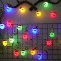 4 м 20 светодиодные гирлянды с рождественской подвеской с Санта-Клаусом  теплый белый/Красочный светодиодный светильник  украшение для празд...