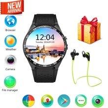 Lemfo kw88 3g wifi gps smart watch android 5.1 os mtk6580 cpu 1.39 pulgadas de pantalla 2.0mp cámara smartwatch para apple moto huawei