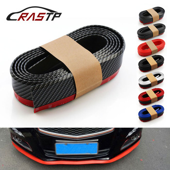 RASTP-Samurai 2.5M Rubber Lip Skirt Protector Car Scratch Resistant Rubber Bumpers Car Front Lip Bumpers Decorate RS-LKT006 image