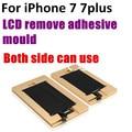 "1 pcs para iphone 7g 7 plus 4.7 ""5.5"" LCD remover adesivo UV glue mould molde de alumínio e Painel de Toque de tela polarizada posicionado"