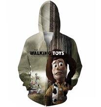 The Walking Spielzeug Zip-Up Hoodies männer frauen 3d sweatshirts lustige cartoon mantel Mode jacke plus größe S-XXL Freies verschiffen