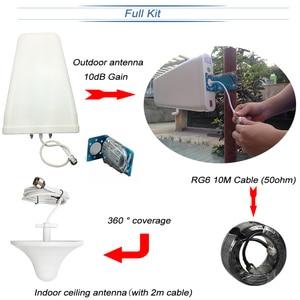 Image 2 - Lintratek Signal booster 2G 900 3G 1800 Cellular Signal Booster GSM DCS 1800MHz Repeater UMTS Amplifier 3G Antenna 10m Kit #40