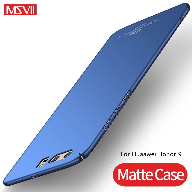 Pour Huawei Honor 9 étui MSVII Coque mate Ultra mince pour Huawei Honor 9 Lite housse Honor9 Coque arrière rigide Honor9 Lite étuis