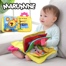 Marumine 3D Baby Cloth Book Animal Developing Soft Cloth Quiet Books For 0 12 Months Kid Intelligence Toys Reading Book