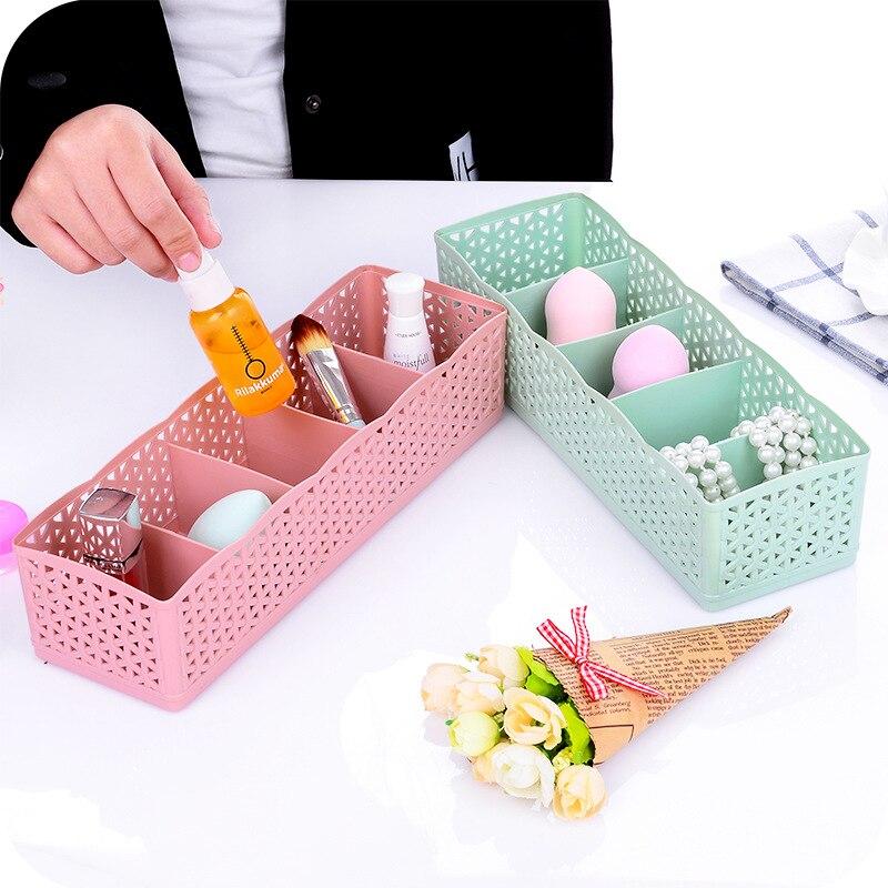 5 Grids Storage Basket Wardrobe Organizer Sundries Storage Box Socks Underwear Storage Box Container Makeup Jewelry Organizer