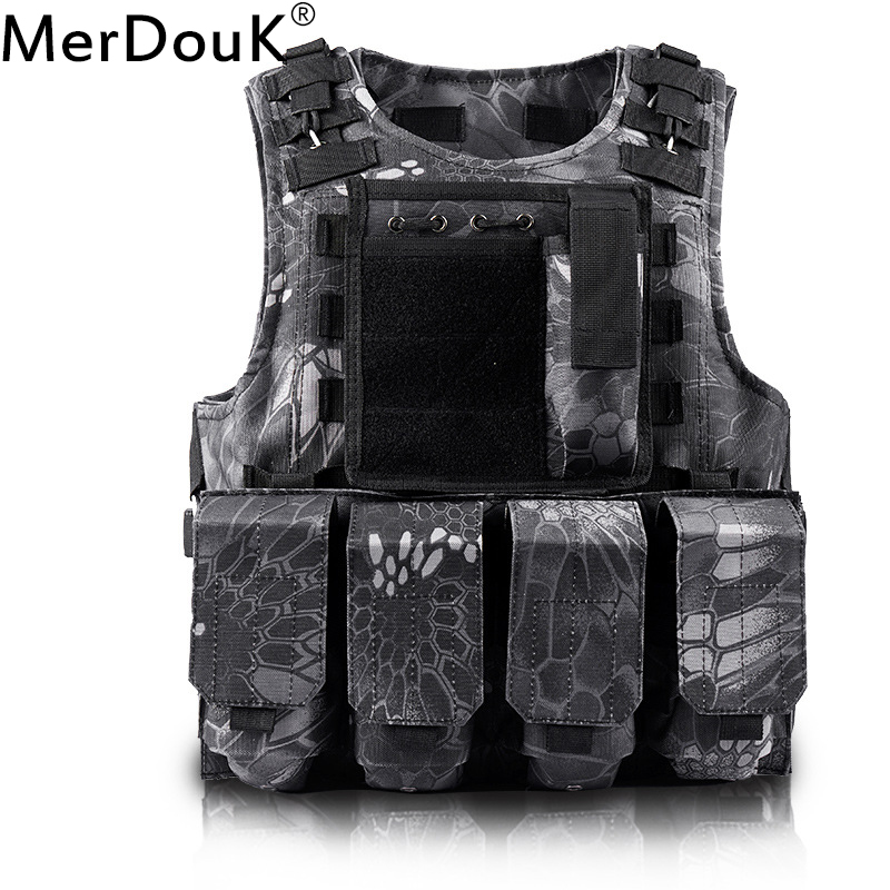 Unloading Airsoft Tactical Molle Vest Protection Plates colete USMC Soldier Combat Vest Army Military Camouflage Carrier