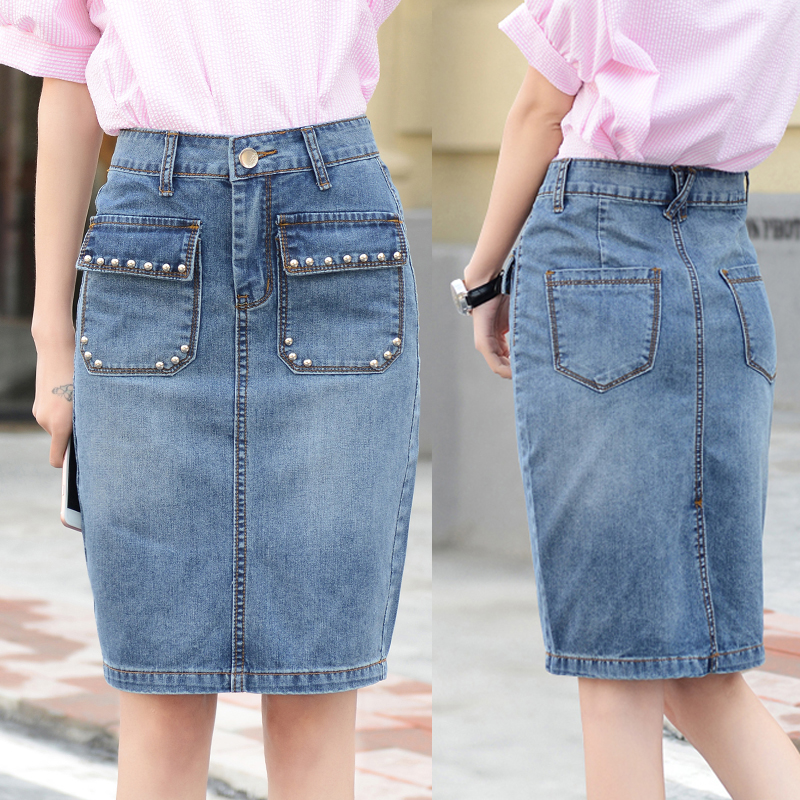 Compare Prices on Blue Jean Skirts Knee Length- Online Shopping ...