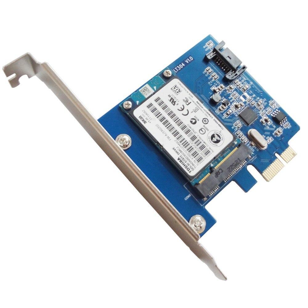 WBTUO LT304 PCI-E SATA 3.0 + MSATA High-Speed Transmission Desktop Dedicated Expansion Card Q00434