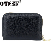 COMFORSKIN Guaranteed Genuine Leather Brand Designer ID Card Case Unisex Credit Holders 2018 Large Capacity Wallets