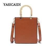 Fashion Women Casual Totes Bag Luxury Handbags Women Bags Designe High Quality Metal Handle PU Leather