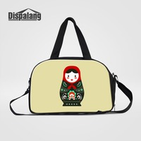 Dispalang Russian Matryoshka Dolls Printed Travelling Bags Luggage For Women Travel Duffle Bag With Shoes Pocket Girls Organizer