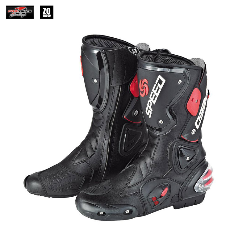 Motorcycle boots outdoor racing boots Pro Biker SPEED Racing Boots Motocross Boots drop resistance B1001 pro biker mcs 04 motorcycle racing half finger protective gloves black size xl pair